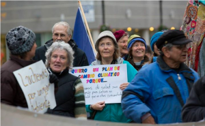Springfield Climate March, Close-up, by Joe Oliverio