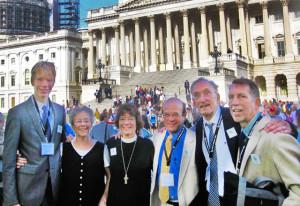 The group from Ashfield, MA included Allen Gabriel, Kate Stevens, Margaret Bullitt-Jonas, Ron Coler, Bruce Bennett, and Richard Prée