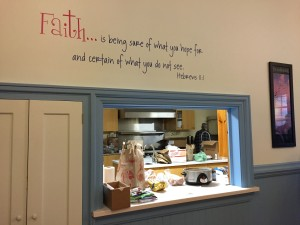 A definition of faith painted on the parish hall of the UCC Church, Conway, MA