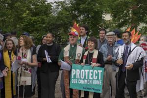 Left to right, Rev. Mariama White-Hammond, Rev. Dr. Jim Antal, and MBJ (photo credit: Robert A. Jonas)