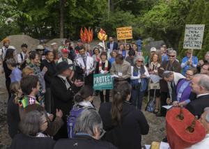 DSC06916,Spectra pipeline protestors gather,5-25-'16
