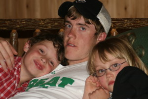 Sam with Noah & Grace, 2008