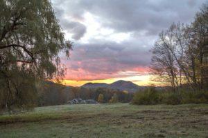 Dawn in Ashfield. Photo credit: Robert A. Jonas