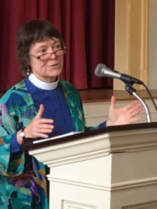 Speaking at SAICAN meeting, Oct. 30, 2016. Photo credit: Rev. Marisa Brown Ludwig