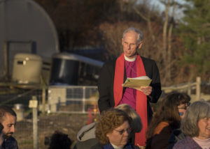 Bishop Doug Fisher makes his pledge. Photo credit: Robert A. Jonas