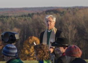 Rev. Dr. Jim Antal makes his pledge. Photo credit: Robert A. Jonas