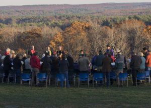 "Gathered in prayer, ""We Are the Earth: Public Prayer for the Planet."" Photo credit: Robert A. Jonas"